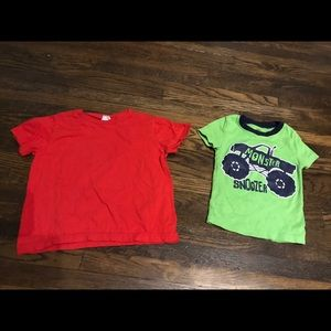 Monster truck and plain tshirt bundle